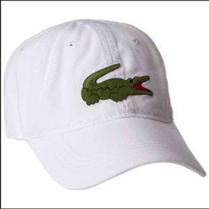 New Lacoste Unisex White Hat Cap